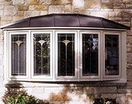 Bow Window with Decorative Glass