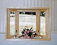 For-U-Builder Living Room Bay Window with Diamond carved glass grids
