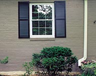 Double Hung Window and Exterior Painting New Shutters