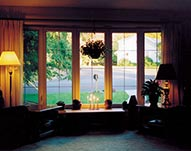 Living Room Wooden Bay Windows