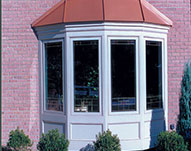 For U Builders Bay window with Azek Trim and Custom Metal roof